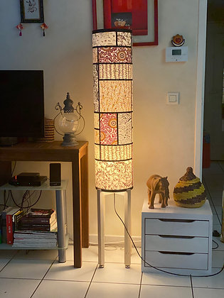 Lampe japonaise pieds bois
