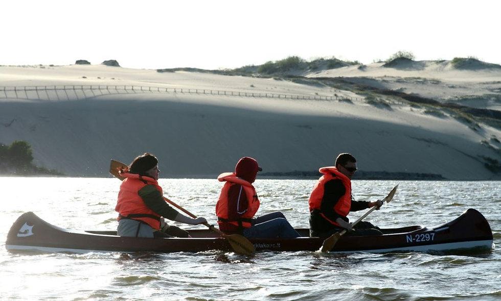 CANOE TOUR UNTOUCHED SAND DUNES