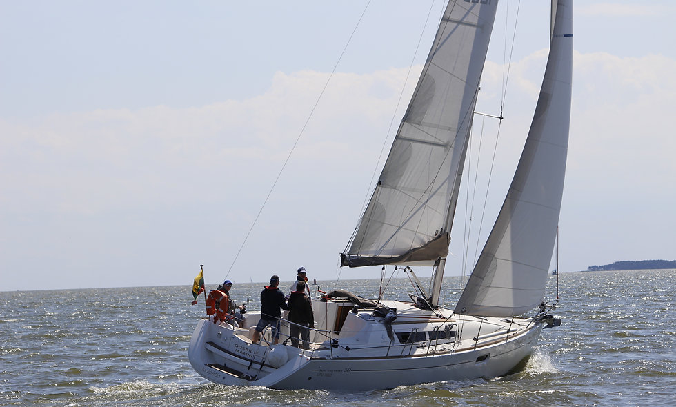Sail with yacht in the Curonian Lagoon: discover! ardour! relax!