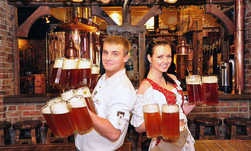 Degustation of the traditional Lithuanian beer in Vilnius old town