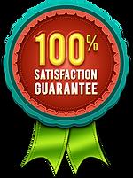 100% Satisfaction Guarantee Badge