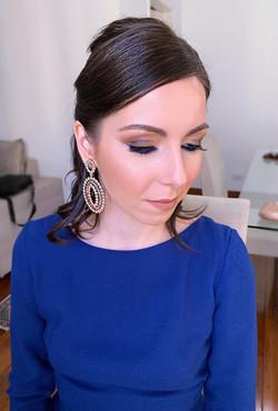 Maquiagem Marrom e Azul