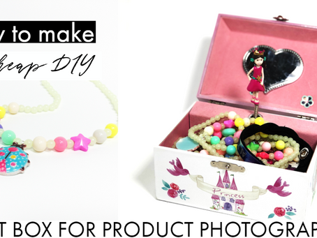 How to make a CHEAP DIY light box for product photography for your phone from the dollar tree
