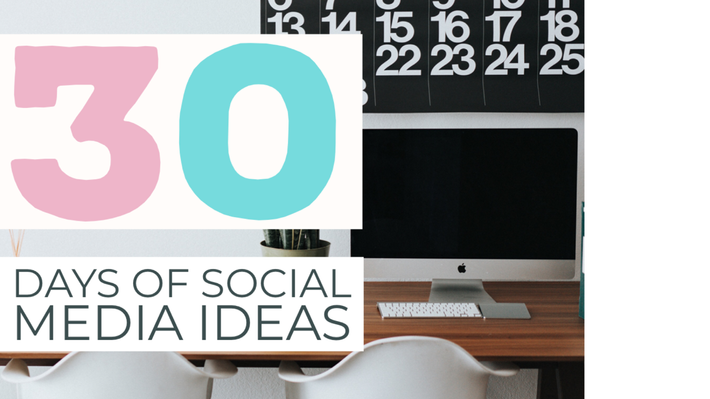 Stuck inside? Refresh your feed with 30 days of creative social media ideas
