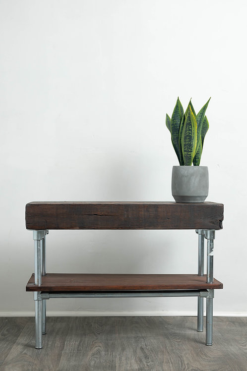 Reclaimed Drift Wood Industrial End Table Nightstand Coffee Table