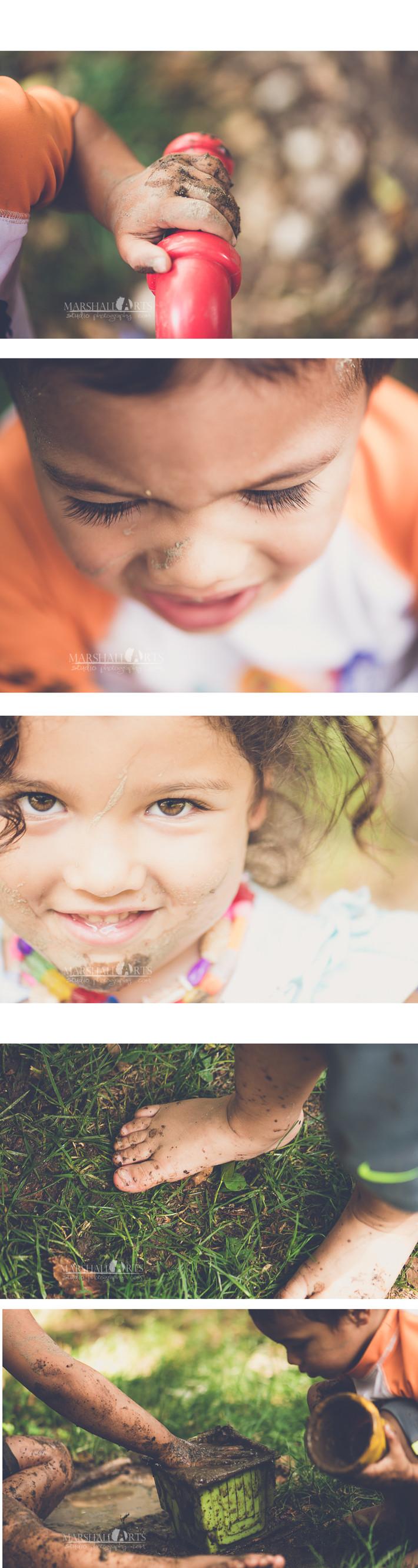 playing in the mud nikon d610 nikkor 105 macro  fun family children
