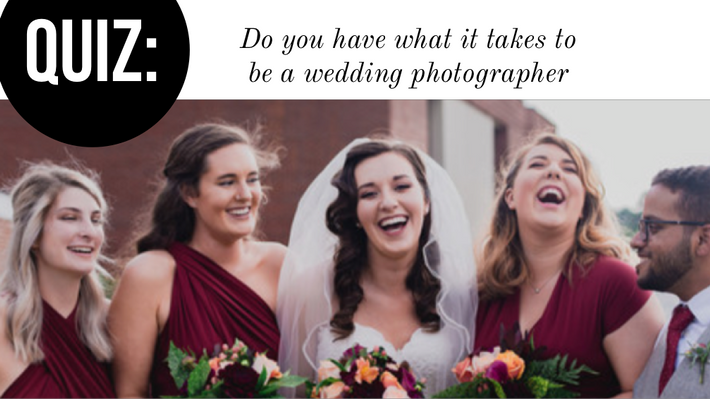 Quiz: do you have what it takes to be a wedding photographer?