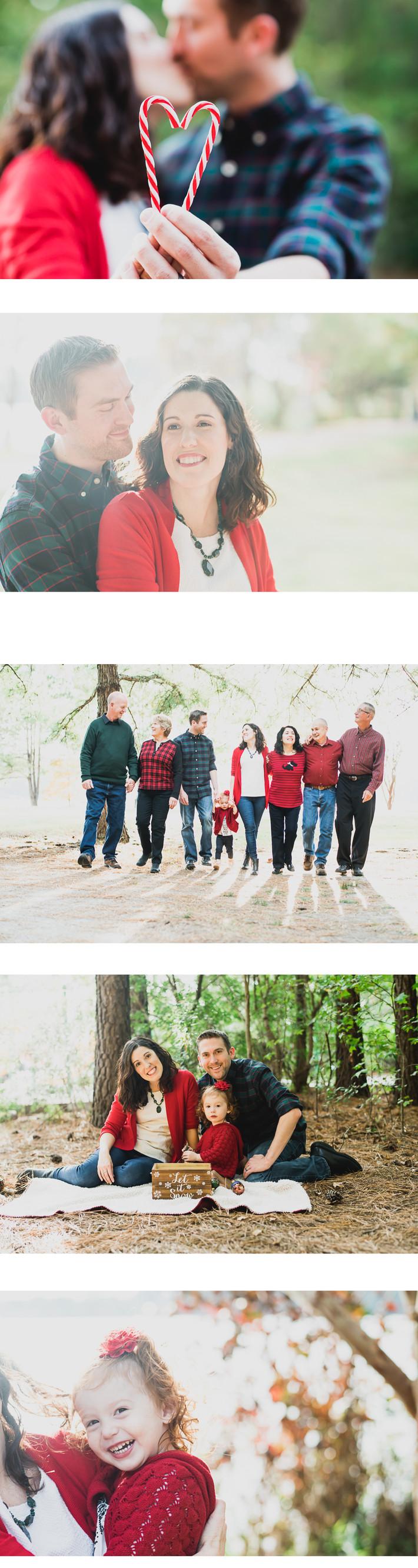 Chesapeake Virginia Oak Grove Lake Christmas Family Outdoor Toddler Photo Session