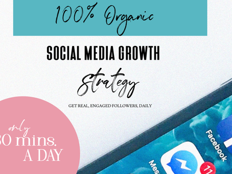 Organically grow your business in only 30 mins. A day!!