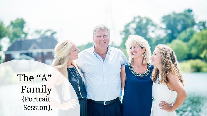 "Chesapeake, Virginia Custom On-Site Family Portrait Photographer- The ""A"" Family"