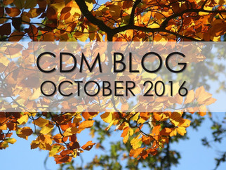 """CDM BLOG: """"Carved by God"""" October 2016"""