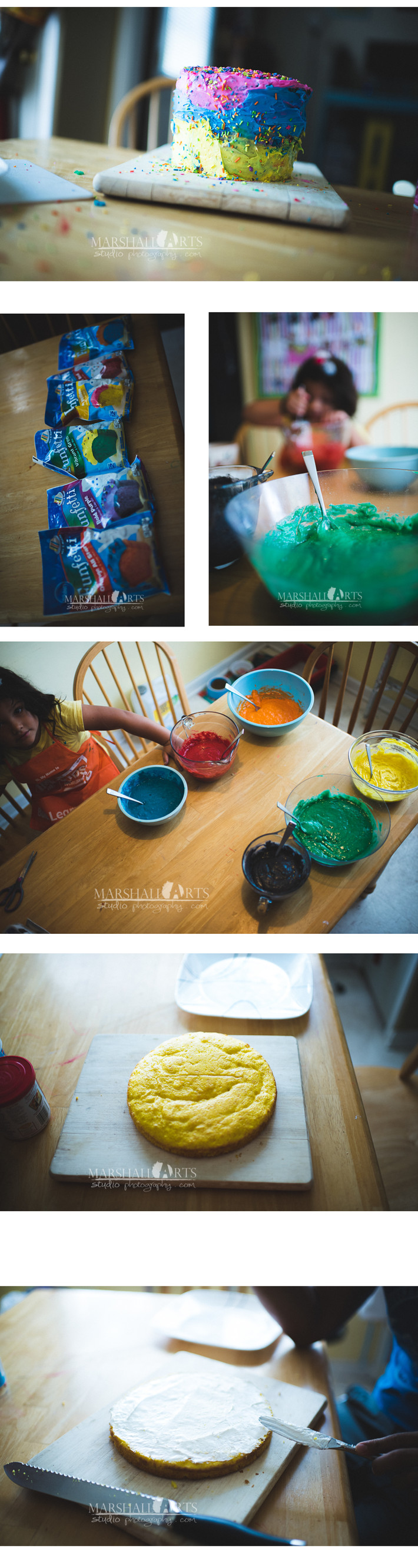 Cheap Fun DIY Our attempt at a rainbow pinterest cake with our four year old!!!