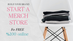 Build your business with a free 100% online merchandise store