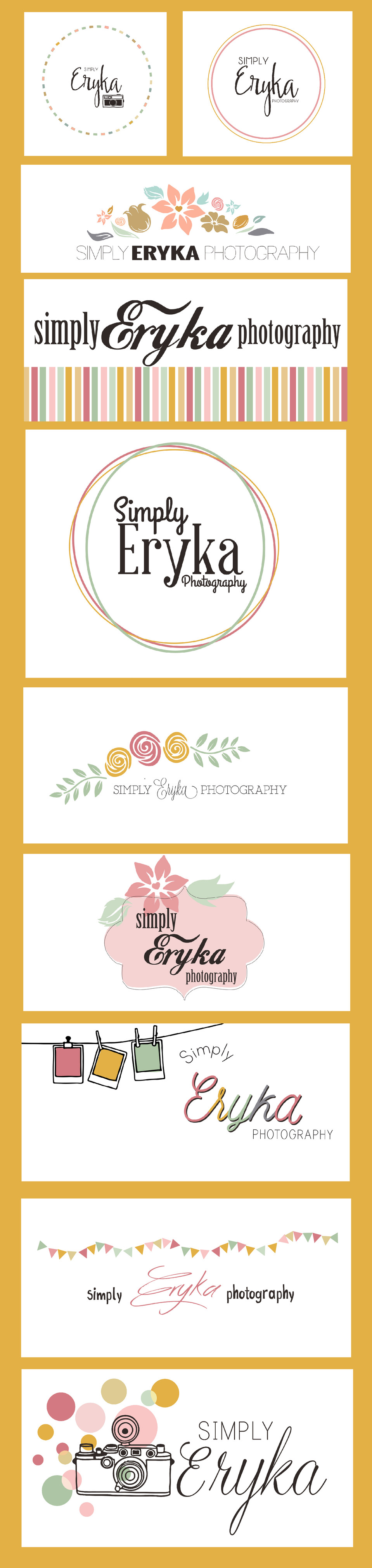 Simply Eryka Photography Logo Samples