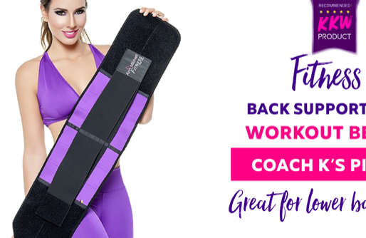 Coach K's Favorite Back Supportive Workout Belt and Waist Trainer