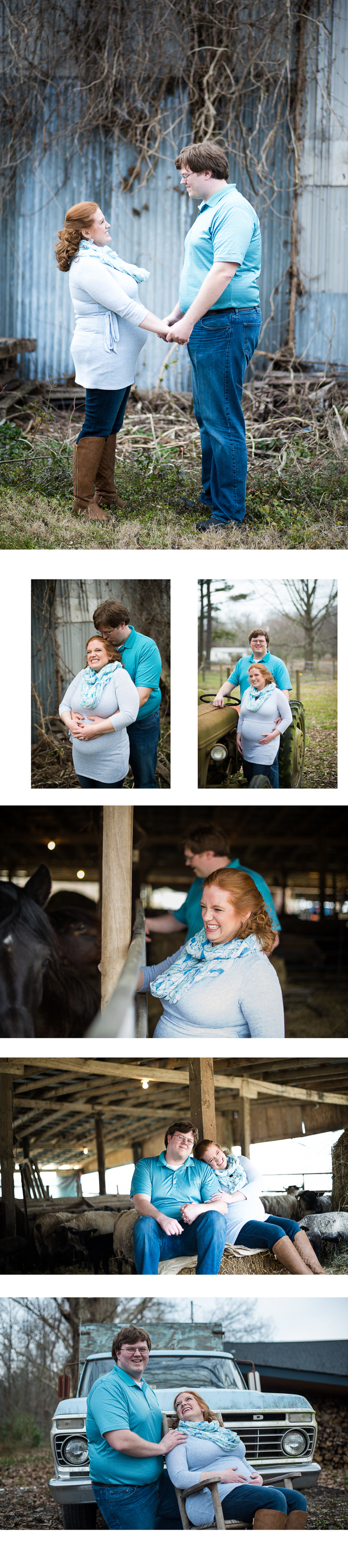 Hannah and Justin's Rustic Farm Outdoor Maternity Shoot