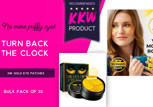 Never look tired again- Coach Kayla's Secret to rested and refreshed eyes- 24K Gold Eye patches