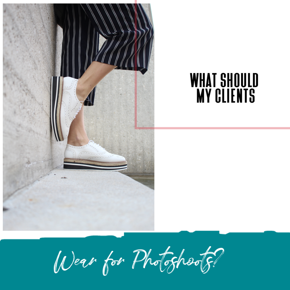 What should my clients wear to a Photoshoot? -free family color palette clothing combo ideas