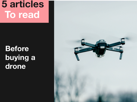 Five articles to read before you  buy a drone
