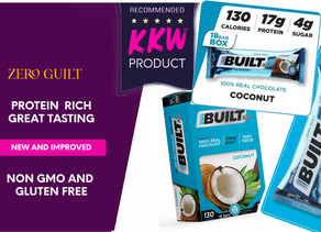 zero guilt and REAL chocolate protein bars by built bars