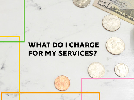 What should i charge for my services? -cost of doing business free worksheet