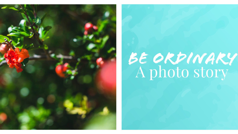 Be Ordinary- a Photo Story