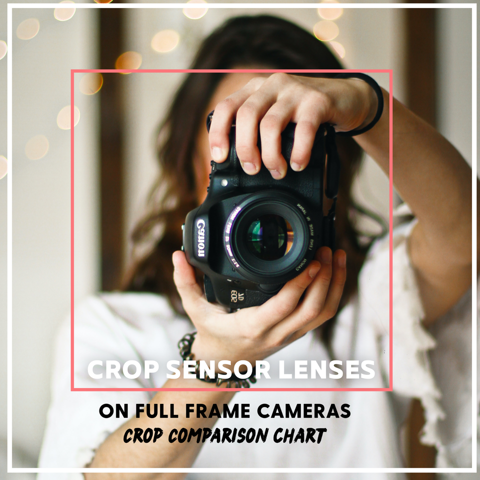 Crop Sensor Lenses on Full Frame Cameras / crop sensor ratios with comparision chart