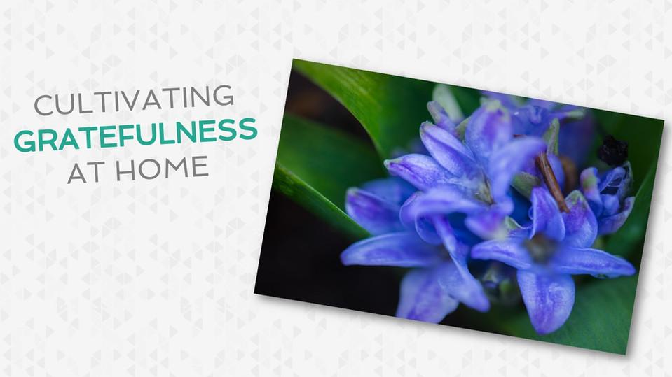 Cultivating a Grateful Spirit at Home