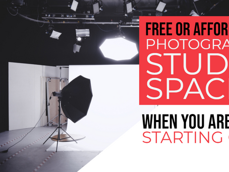 FREE or cheap photography studio space when you are just starting out
