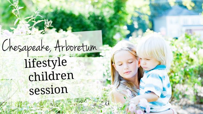 Chesapeake, VA Chesapeake Arboretum Outdoor Children Lifestyle Session