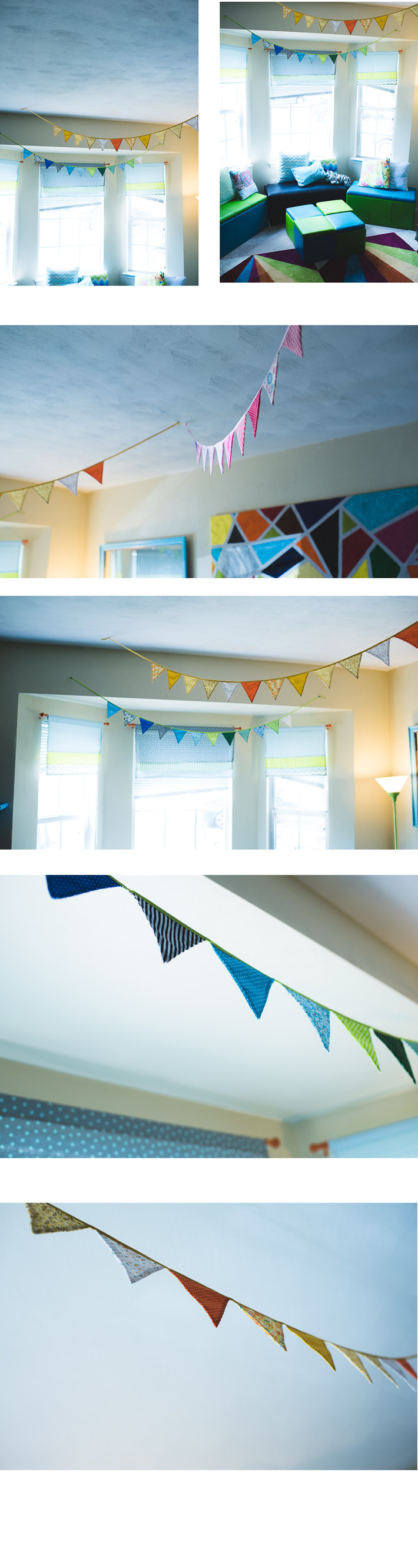 Cheap Decor Ideas.. Cheap fabric pennant banners for under 10 dollars on amazon? No way! Yes way!