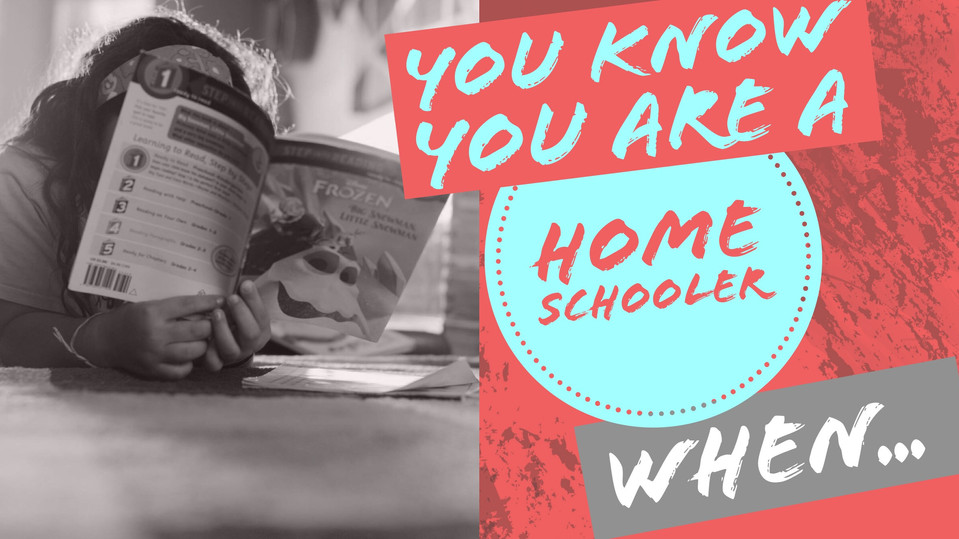 You know when you are a homeschooler when...