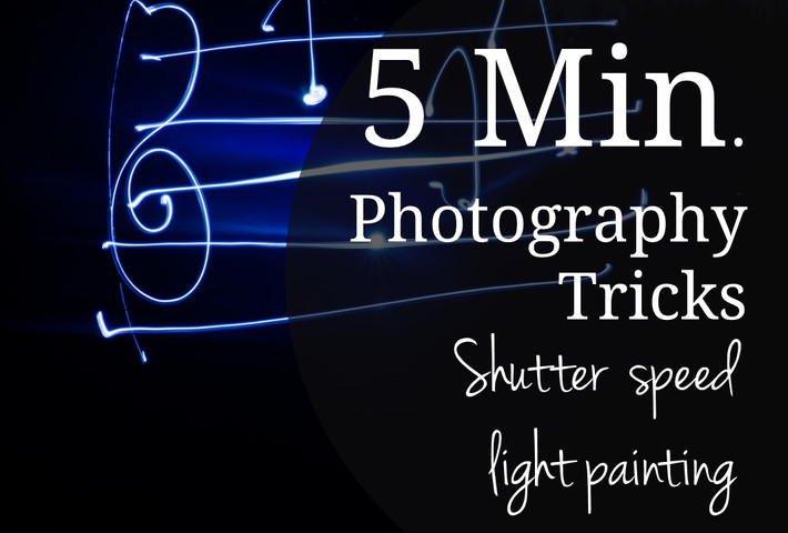 Five Minute Photography Tip: Shutter Speed Light Painting