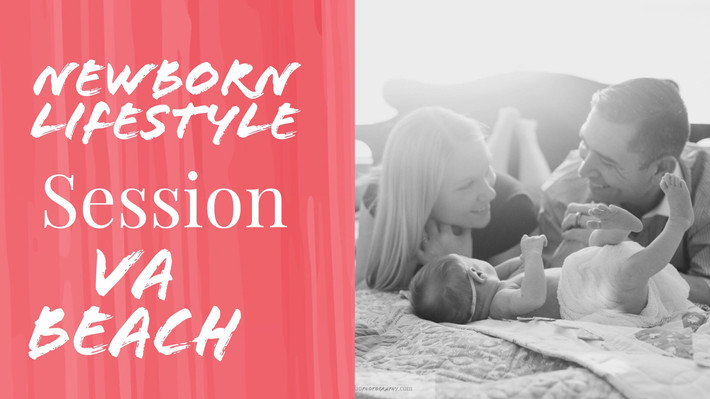 "Lifestyle Indoor Newborn Baby Girl Session Virginia Beach {Little Baby ""M""}"
