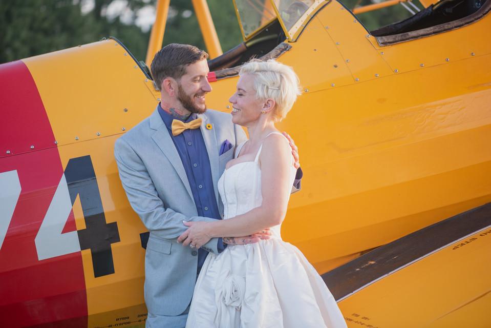 Virginia Beach Wedding Photographer Aviation Museum | Retro Vintage Inspired Wedding | Marshall Arts