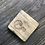 Thumbnail: engraved personalized Hand-made reclaimed wooden pallet board coasters - grey