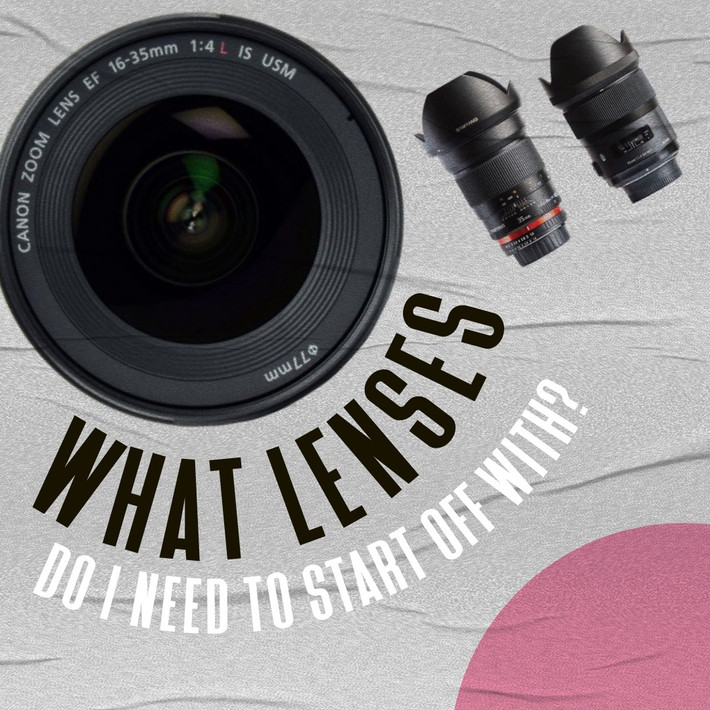 What lenses do I need when I am first starting off?
