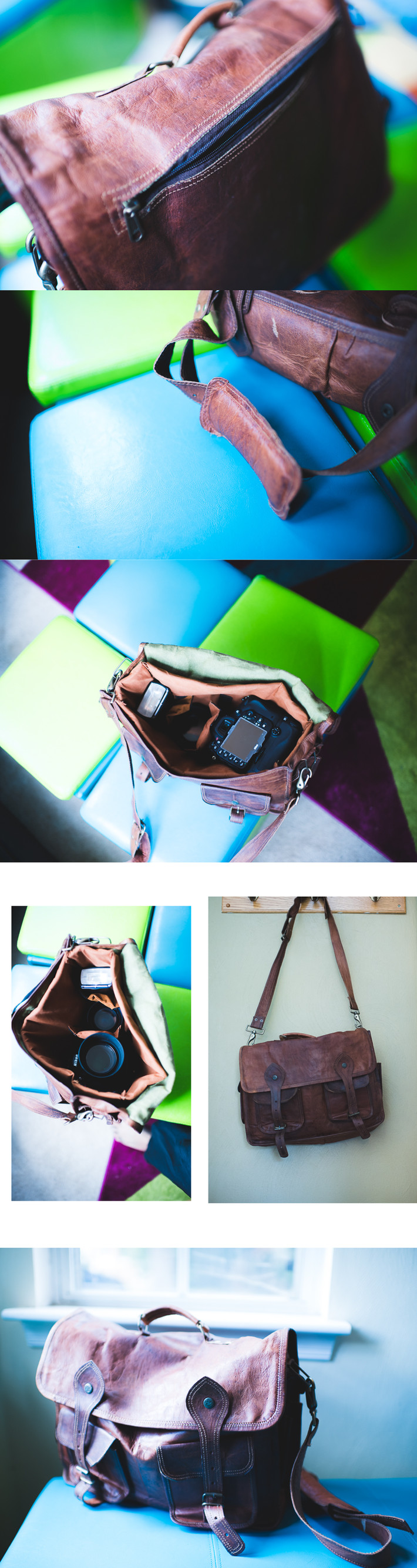 Want a really cute genuine leather handmade dslr camera bag for under 100?  I have just the thing...