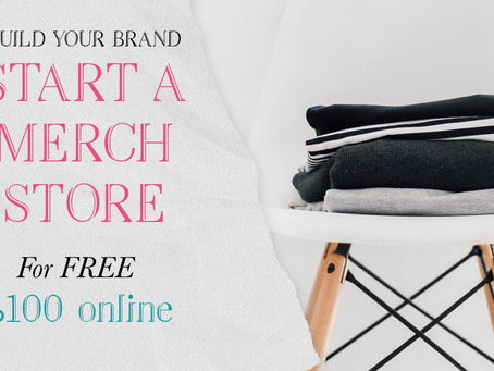 Build your business and make 100% online merchandise store for free