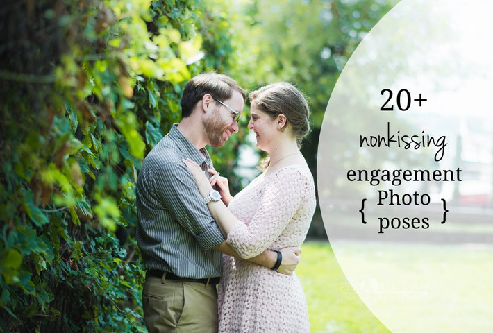 20+ Non Kissing Engagement Photo Posing Ideas