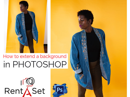 HOW to extend a background in Photoshop