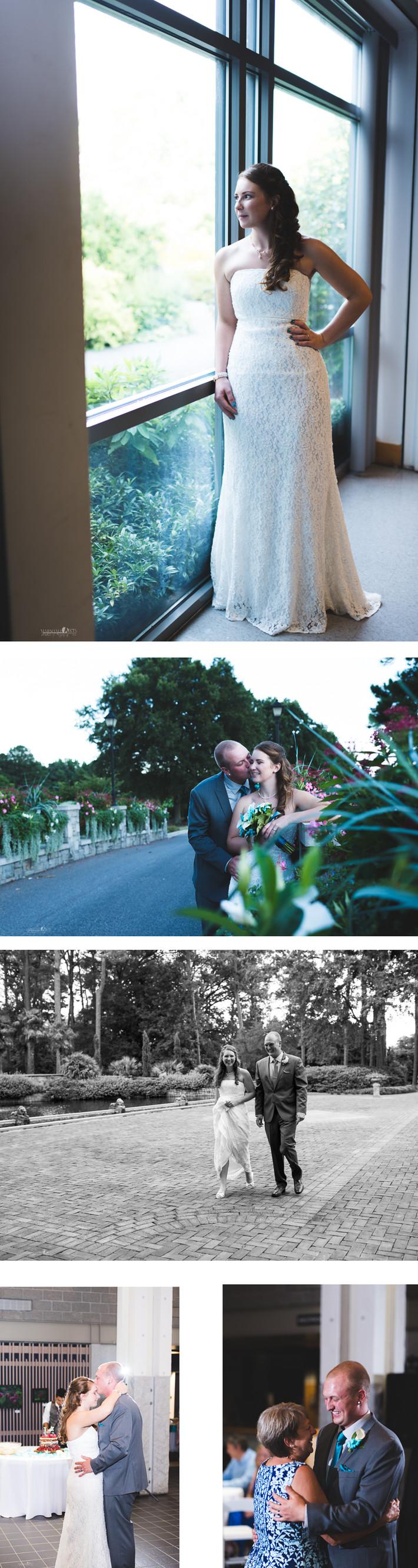 Katie + Chris Norfolk Botanical Garden Wedding Virginia Beach Cheasapeake Wedding Photography