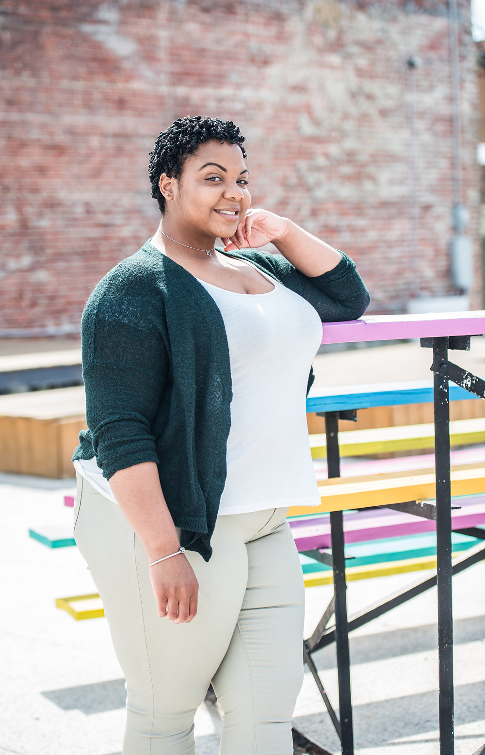 Downtown Norfolk Neon District Women's Empowerment Headshot Photography Session