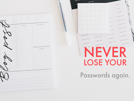 Never lose your passwords again