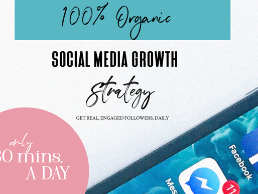 100% organic social media growth marketing strategy-only 30 mins. A day