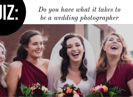 Take this quiz: Do you have what it takes to be a wedding photographer?