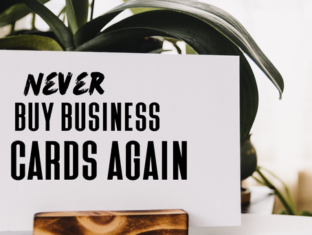 Never buypaper business cards again!