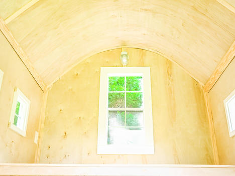 back slide up style window with 7.5  foot rounded ceiling clearance  (click to expand)