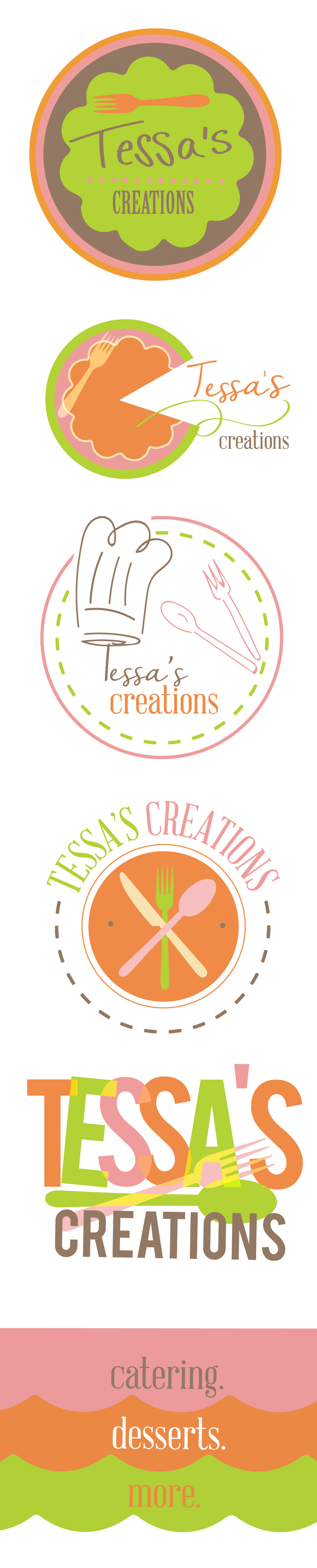 Logo Concepts for baking, catering, food business