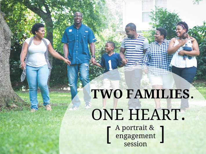 Chesapeake Arboretum Family Portrait Session, Engagement Photography- Two Families One Heart